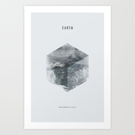 Minimalist Travel Poster - Earth Art Print
