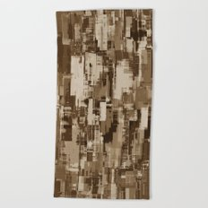 Abstract Brown Camo pattern Beach Towel