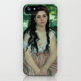 "Auguste Renoir ""En été - La bohémienne (In summer - Gypsy woman)"" iPhone Case"