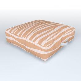 Zebra Print - Toffee Caramel Outdoor Floor Cushion
