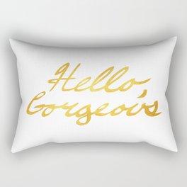 Hello, Gorgeous Gold Rectangular Pillow