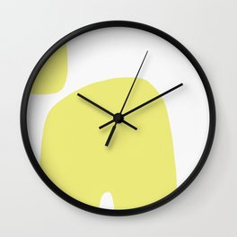 Abstract Shape Series - Yellow Arch Wall Clock