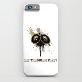 Let The Music Play - Artistic Loudspeakers iPhone Case