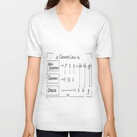 law V-neck T-shirts featuring Grimm's Law by Simpson Jane