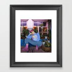 boy around the world Framed Art Print