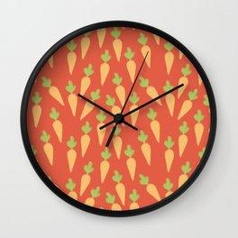 Carrot Pattern Wall Clock