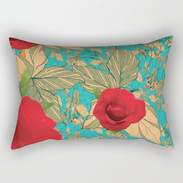 Rose with Dandelion Rectangular Pillow