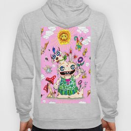 Little Baby Girl She-Beast and Friends, Pink Hoody