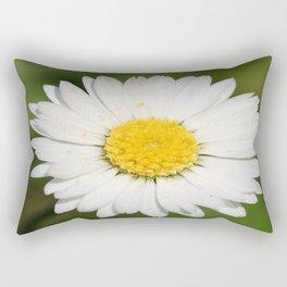 Closeup of a Beautiful Yellow and Wild White Daisy flower Rectangular Pillow