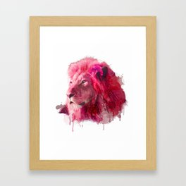Rose Lion Framed Art Print