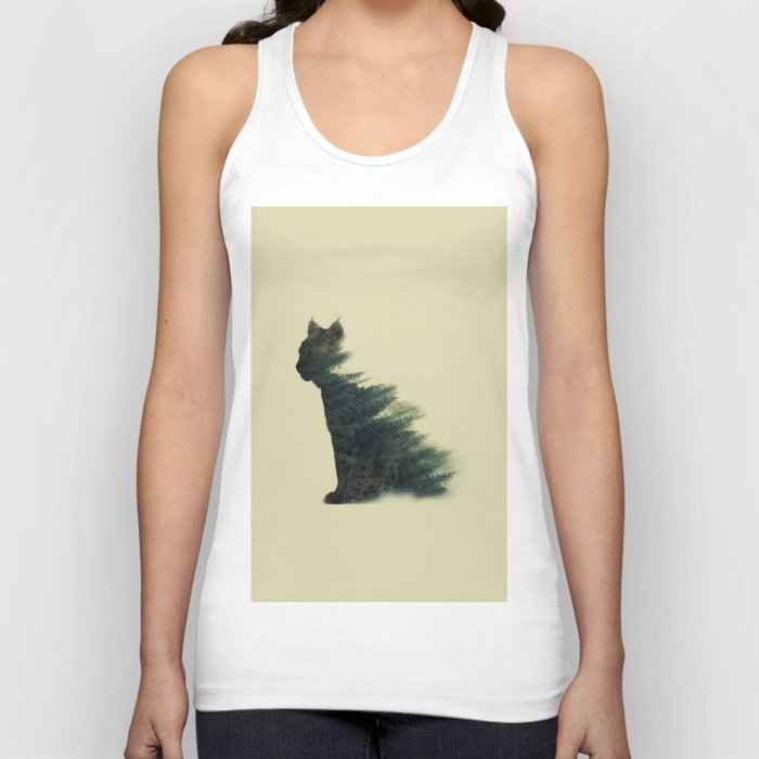 Animal in forest Unisex Tank Top