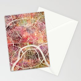 Moscow Map Stationery Cards