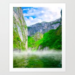 Morning Mists Inside Sumidero Canyon - Chiapas Mexico Art Print