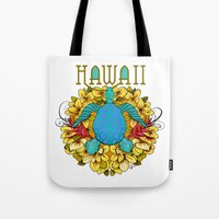 hawaii Tote Bags featuring Hawaii by Renee Ciufo