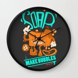 Soap make bubbles Wall Clock