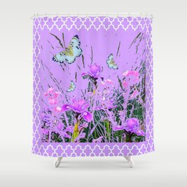 LILAC PURPLE MODERN FLOWERS ABSTRACT Shower Curtain