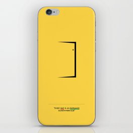 Lab No. 4 - Door Minimalist Modern Wall Art for Entrance iPhone Skin