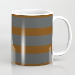 Brown Caramel Stripes on Gray Background Coffee Mug