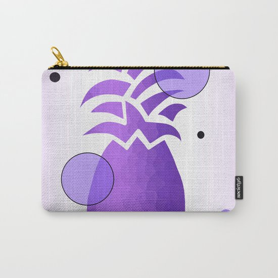 Purple Whimsical Pineapple Carry-All Pouch