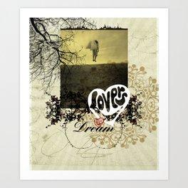 Dream lovers Art Print