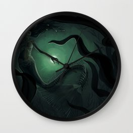 deep water mermaid Wall Clock