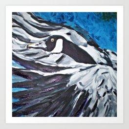 Departure (Canada Goose) Art Print