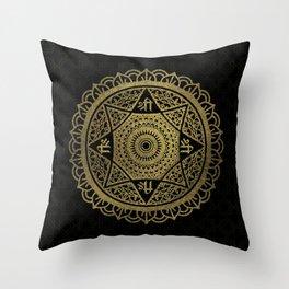Golden  Star of Lakshmi - Ashthalakshmi  Sri Throw Pillow