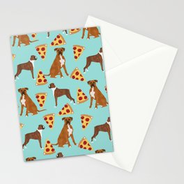 Boxer dog pattern pizza dog lover pet portraits boxers dog breed by pet friendly Stationery Cards