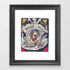 Sucker of the Week Framed Art Print