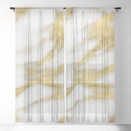 Bari golden marble Sheer Curtain