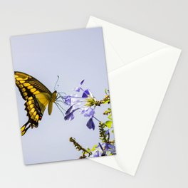 Butterfly absorbing the nectar of a flower Stationery Cards