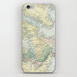 Vintage Map of The East Of Canada iPhone Skin