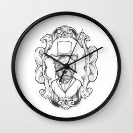 Gilles the dapper Schnauzer Wall Clock