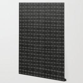 Charcoal Textured Ethnic Tribal Print Wallpaper