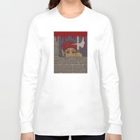 kindle Long Sleeve T-shirts featuring Peeking Redcap by Richard Fay