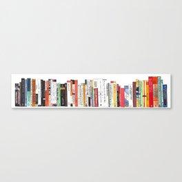 Bookshelf Painting Canvas Print