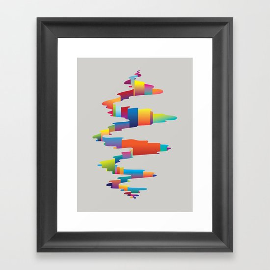 After the earthquake Framed Art Print
