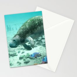 Large  Manatee Stationery Cards