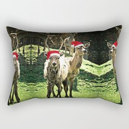 Tis The Season - Reindeer Rectangular Pillow