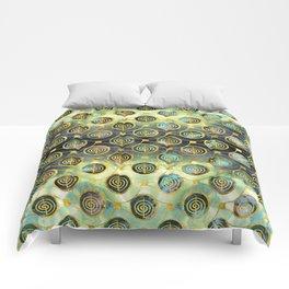 Gold Choku Rei Symbol Reiki Pattern Comforters