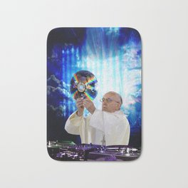 DJ Earth Pope Francis, EDM Holy Father Bath Mat