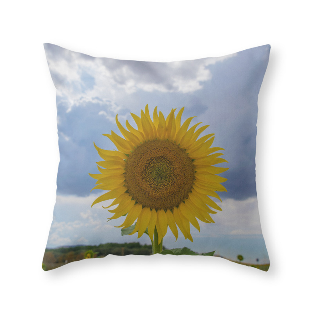 Sunflower Throw Pillow by pascaledel