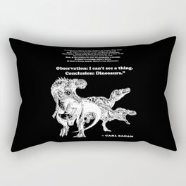Conclusion: Dinosaurs [White] Rectangular Pillow
