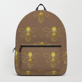 Honey bee pattern - Gold and brown  Backpack