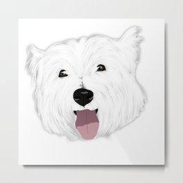 Skye the West Highland White Terrier Metal Print
