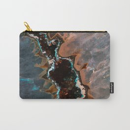 Earth treasures - Blue and orange agate Carry-All Pouch
