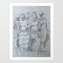 Communication / Head Potters / Business Women Art Print