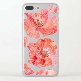 Wilds Poppies Clear iPhone Case