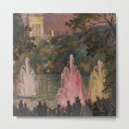 Fountain at Pernes-Les-Eaux, Provence, France by Laura Sylvia Gosse Metal Print