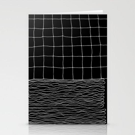 Hand Drawn Grid Stationery Cards